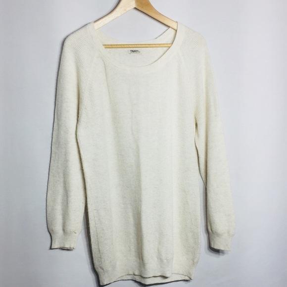 TNA angora and cashmere blend waffle knit sweater